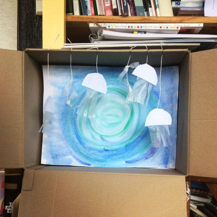 La maquette du décor qui a permis aux enfants de visualiser le projet