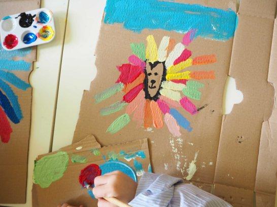 Lion coloré, atelier DADA avec Colora