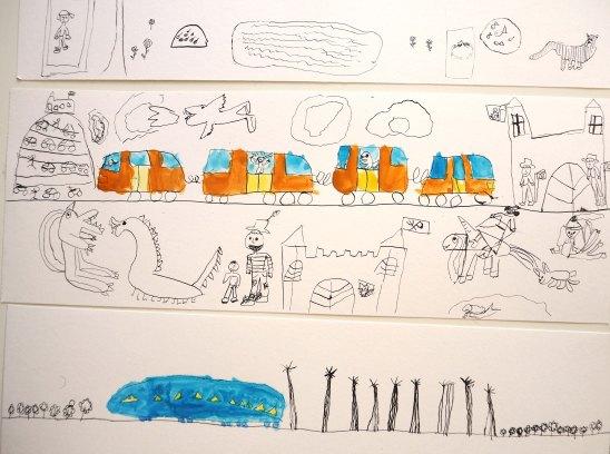 """Atelier DADA sue le paysage inspiré de l'album """"Ligne 135"""" de Germano Zullo, illustré par Albertine"""