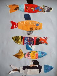 Projet d'école maternelle: collage poissons